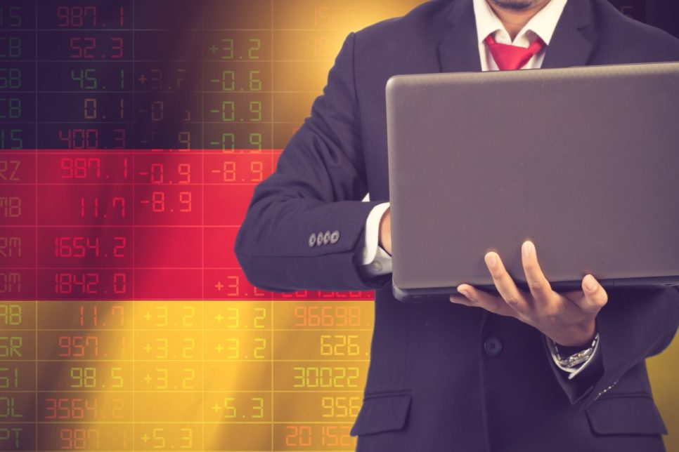 concept of Germany stock market ticker.Vintage color 966x644 - Немецкий бизнес в Крыму